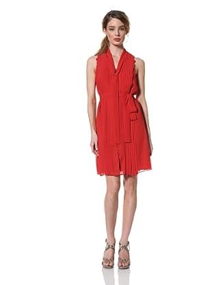 Chetta B Women's Sleeveless Pleated Chiffon Dress (Red/Multi)