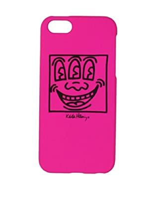 Keith Haring Collection Bezel Case for iPhone 5 with Earphones Face/Pink