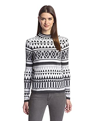 Romeo & Juliet Couture Women's Long Sleeve Patterned Sweater