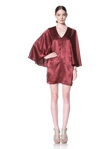 Twinkle By Wenlan Women's Dark Fairy Wide Sleeve Dress (Garnet)