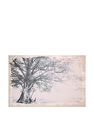 Concept Luxury Leinwandbild Tree weiß/schwarz