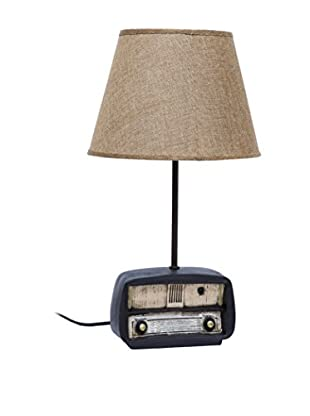 Home Ideas Lámpara De Mesa Old Radio Negro/Natural