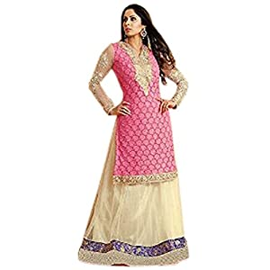 Sangita Ghosh In Pink Jacket Style Anarkali Suit