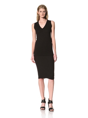 RICK OWENS Women's Heavy Jersey Basic Tunic Tank (Black)