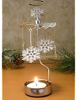 Spinning Snowflake Candle Holder Scandinavian Design