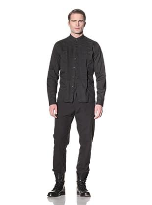 Ann Demeulemeester Men's Double-Button Front Shirt (Black)