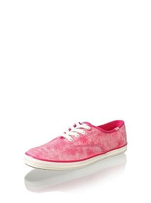 Keds Women's CH Wash Stripe Sneaker (Pink)