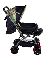 Mee Mee Baby Pram with Adjustable Seating Positions and Reversible Handle (Yellow/Blue)