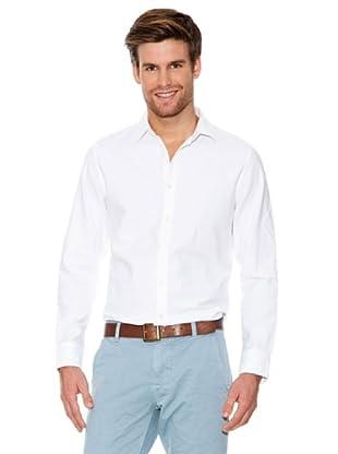 Dockers Camisa Oxford con Tapeta En Botones (blanco)