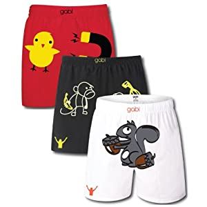 Gabi Life Men's Animal Boxer Pack of 3-Small