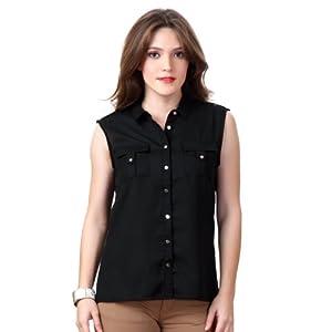 Van Heusen VWSF513D05561 Casual Shirt-Black