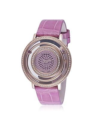 Versace Women's VFH100013 Venus Diamond, Topaz & Garnet Pink Alligator Watch