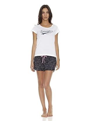Lexington Company Pijama Mujer Estrella (Blanco / Azul)