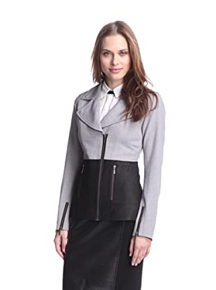 AS by DF Women's Ynez Jacket with Leather Bottom (Cinder Gray)