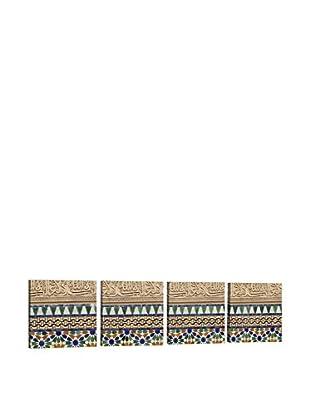 Dekorjinal Set, 4-teilig dekoratives Bild Tas065 (mehrfarbig)