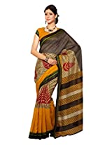 Texclusive Cotton Silk Saree With Blouse Piece (Texrp18B -Multi-Coloured)