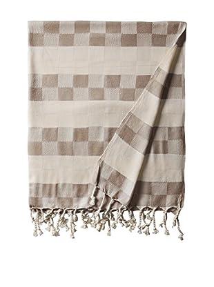 Nomadic Thread Handwoven Towel Cube, Natural/Brown