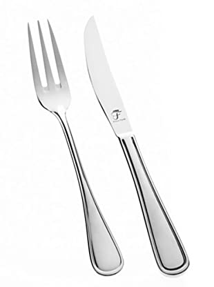Franz Fürst Steak Set 12tlg. Steakmesser und Gabel poliert