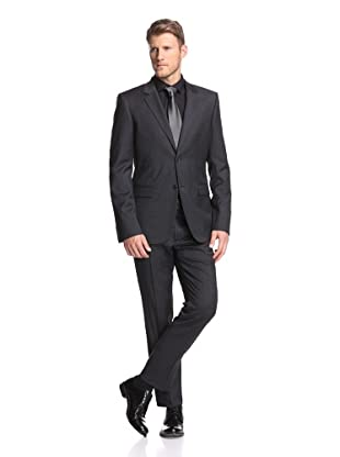Calvin Klein Collection Men's Bowery 2-Button Suit (Charcoal Heather)