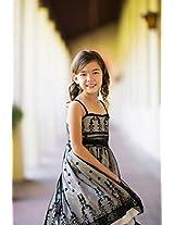 Magic Fairy Girls' Net Dress [MF-279_Black Champagne _9-10 Years]