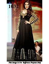 1032- Rashmi Nigam Floor Length Black Anarkali Suit