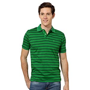 Striped Regular Fit Polo Neck T-Shirt