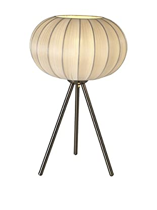 Trend Lighting Shanghai Table Lamp, Pearl/Brushed Nickel