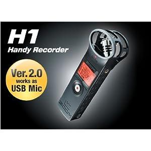 ズーム XYステレオ方式コンデンサマイク搭載ハンディレコーダー H1ver2