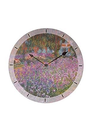 Artopweb Reloj De Pared Monet Jardin A Giverny