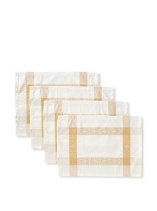 Garnier-Thiebaut Set of 4 Imperatrice Placemats, Gold