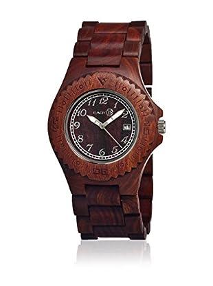 Earth Watch Uhr mit Japanischem Quarzuhrwerk Phloem rot 42 mm