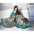 Black & Blue Colour Bhagalpuri Art Silk Balucherry Saree