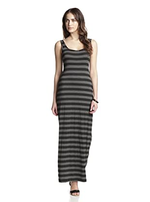 TART Women's Peoria Maxi Dress (Black/Grey Stripes)