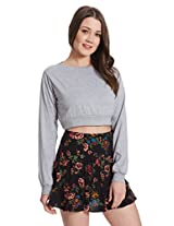 Miss Chase Women's Solid Casual Crop Top