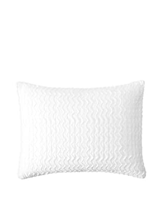 Vera Wang Sculpted Floral Pillow, White