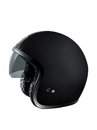 Exklusiv Helmets Casco Racer Black Snow Leopard (Negro)