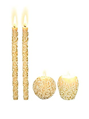 Volcanica Set of 4 White Profound Candles
