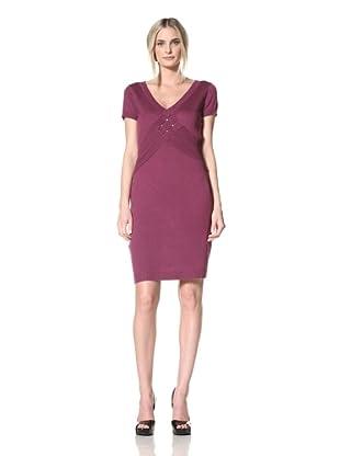 Marc New York Women's Crisscross Sweater Dress (Plumberry)