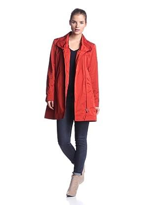 Rainforest Women's Packable Asymmetric Coat (Paprika)