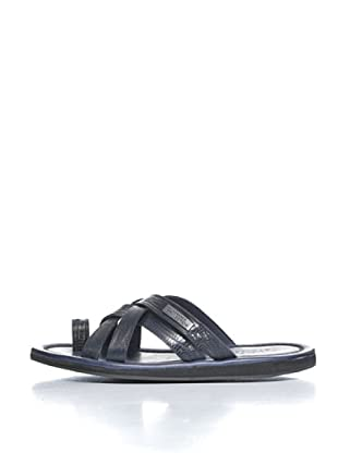 Versace Collection Sandalias Petar (Azul Marino)