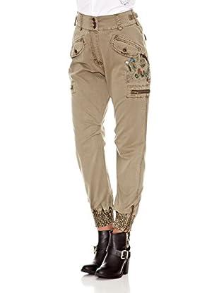 Desigual Pantalón Menta (Beige)