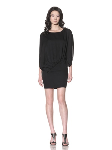 Foley + Corinna Women's Stretch Silk Draped Dress (Black)