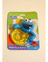 Sesame Street Water-Filled Cookie Monster Teething Ring (Colors May Vary)