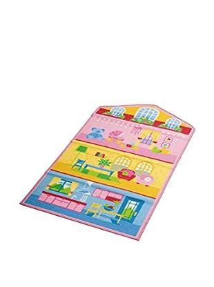 ABC Tappeti Teppich Dollhouse 2 rosa/himmelblau/gelb 80 x 140 cm