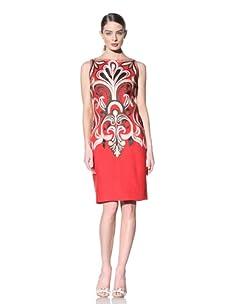 Naeem Khan Women's Open Back Embroidered Dress (Coral)