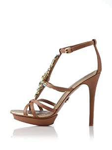 Adrienne Maloof for Charles Jourdan Women's Venus T-Strap Platform Sandal (Tan)