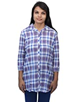 Romano Women's Blue Cotton Top