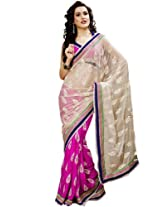 Bharat Plaza Multicolor Sophisticated Net & Viscose Saree