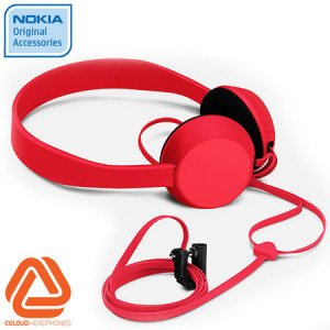 ORIGINAL UNIVERSAL NOKIA WH520 WH-520 COLOUD HEADPHONE THE KNOCK - RED