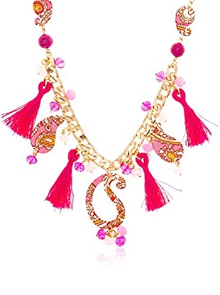 Edien Collar Pink Cachemir Dorado / Fucsia